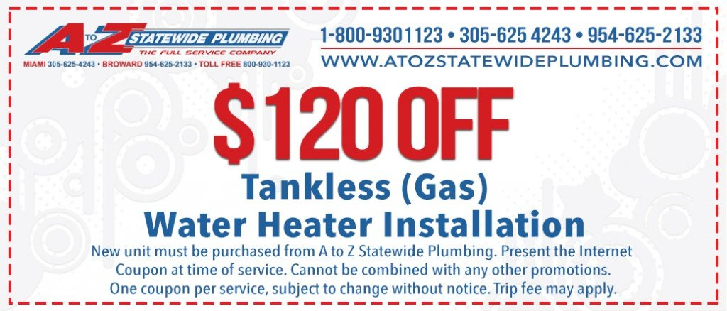 Hollywood Plumber, Coupon Tankless Water Heaters Get $120 Off