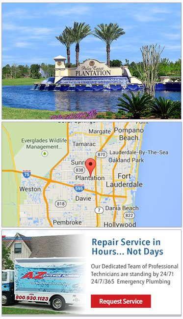Plumbing in Plantation FL, Plumbers, Septic Service, Water Heaters, Plantation Plumber