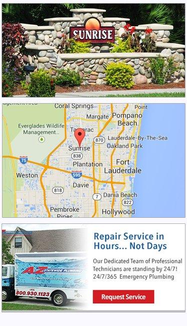 sunrise FL plumbing service, plumbers