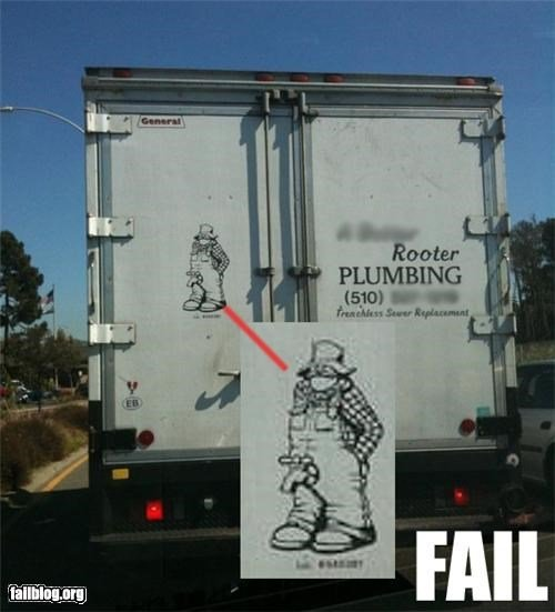 plumbing advertising fail