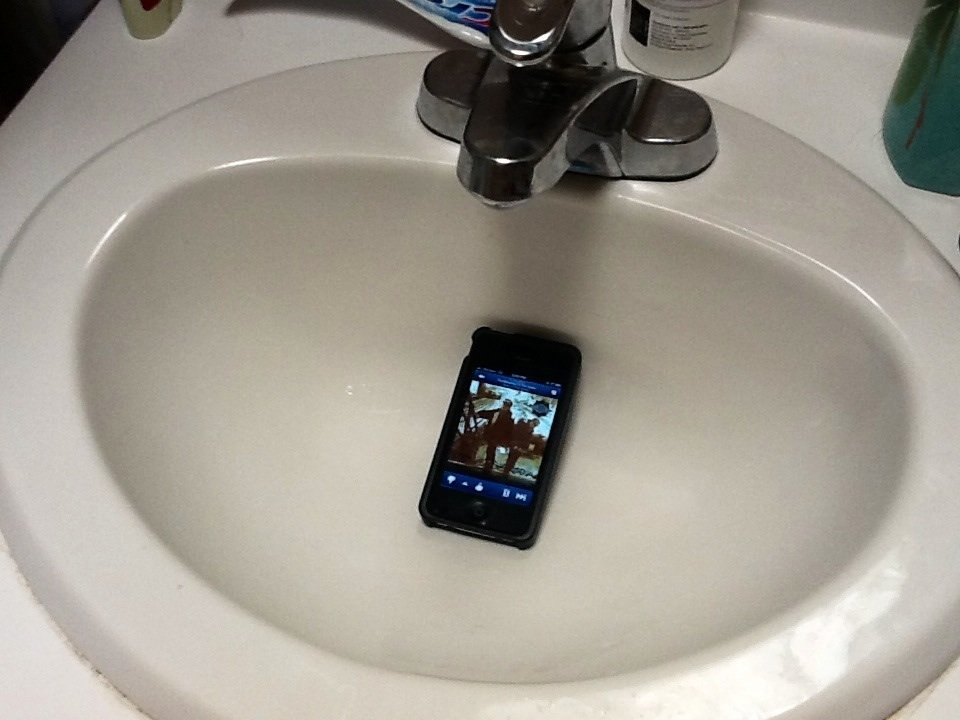 Use your (DRY) sink as an amplifier for your phone. Shower with a soundtrack.