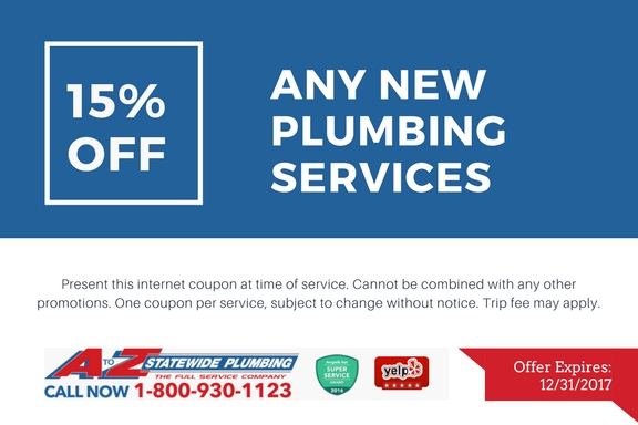 15% off any new plumbing service