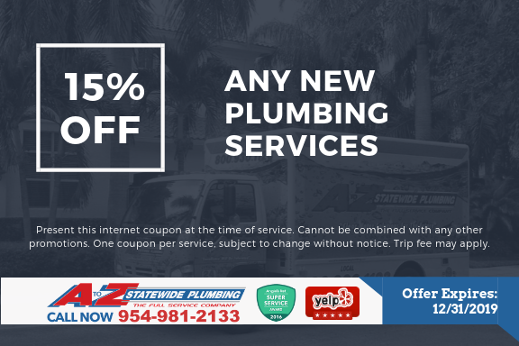 15% off any plumbing services