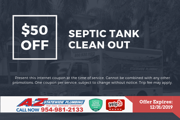 $50 off septic tank cleanout