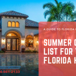 Summer Check List for Your Florida Home
