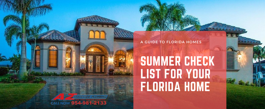 Summer check list for Florida homes