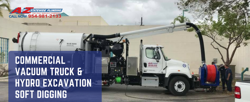 Commercial Vac Truck Hydro Excavation Soft Digging