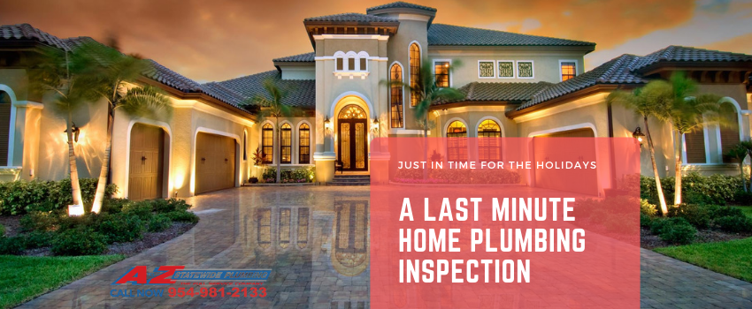 A Last Minute Home Plumbing Inspection: Just in Time for the Holidays
