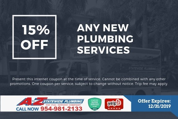 Get 15% off any new plumbing service