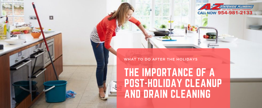Post holiday plumbing clean up