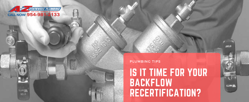 Is it Time for Your Backflow Recertification?