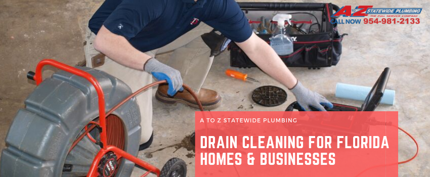 Drain cleaning for florida homes and businesses