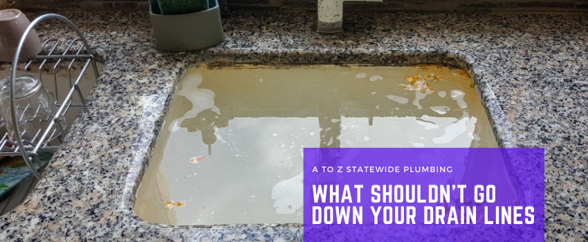 What Shouldn't go down the drain?