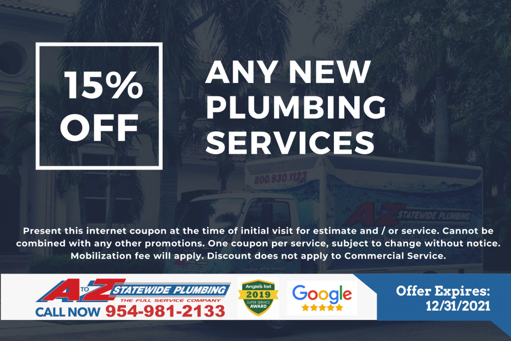 any new plumbing service coupon