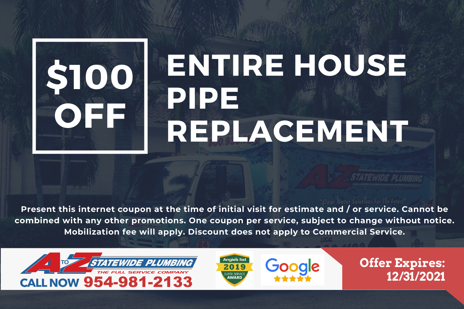 Entire house pipe replacement coupon